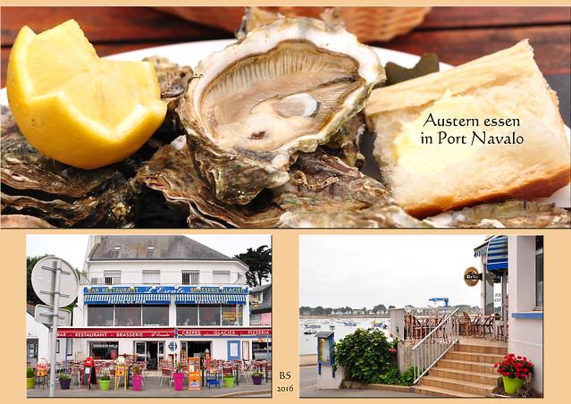 Port Navalo / Bretagne Muscheln und Austern essen Moules marinières frite huîtres Cidre ... Fotos: Brigitte Stolle 2016