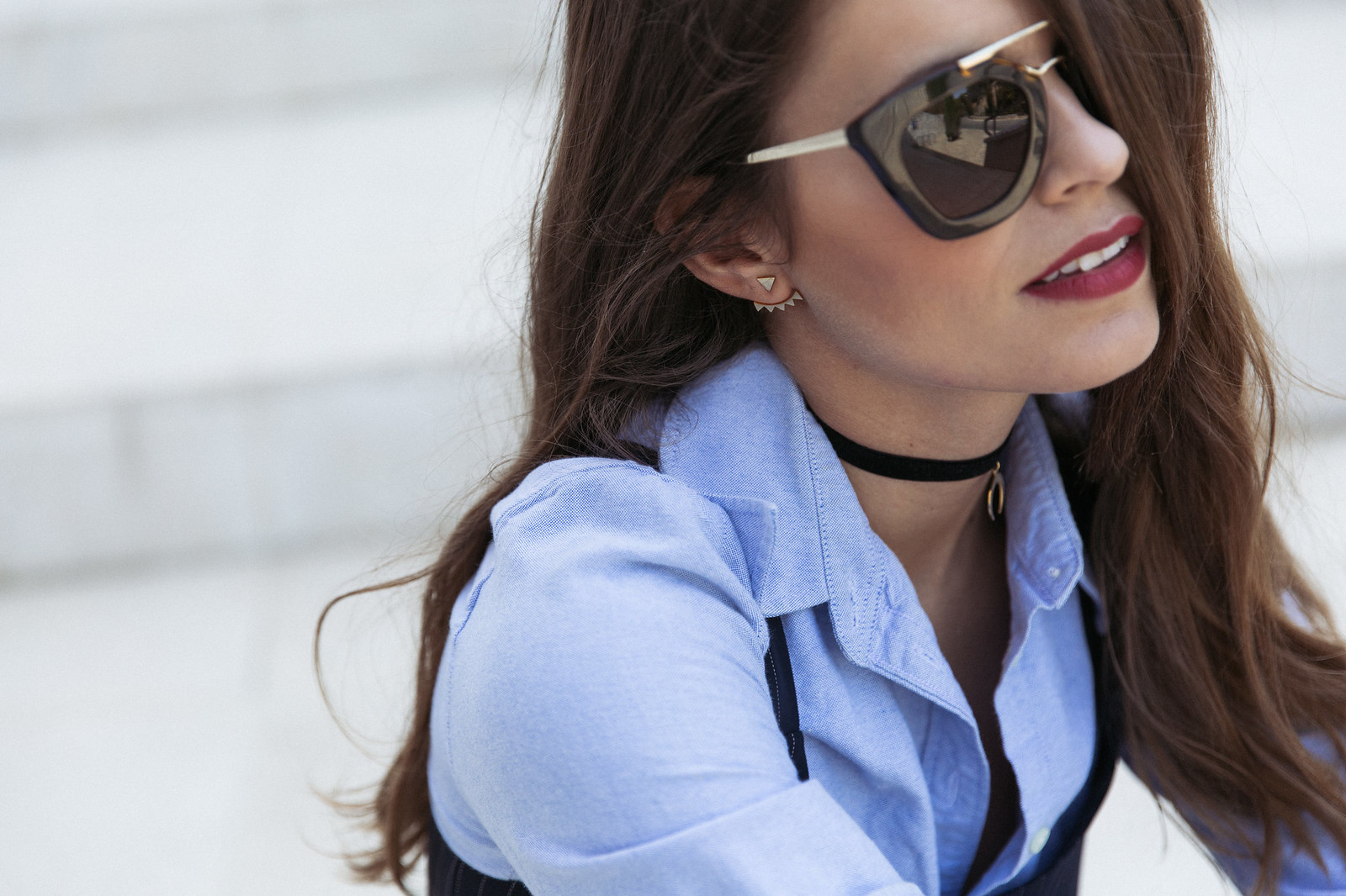 Jessie Chanes Seams for a desire - Pinstripped suit topshop heeled sandals schutz parfois bag  -9