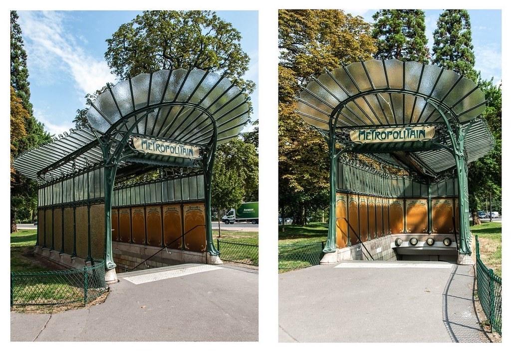 DSC_8536, Edicule d\'Hector Guimard. Entrée du Métro Porte … | Flickr