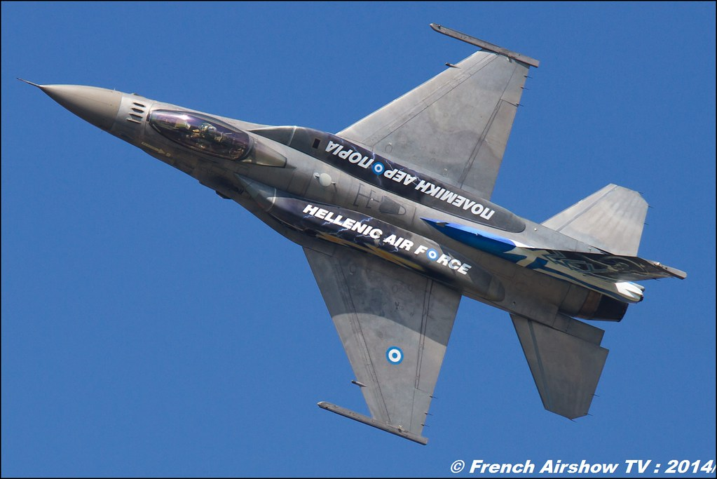 Hellenic Air Force F-16 Demo Team Zeus ZEUS displays HAF F-16C Block 52+,AIR14 Payerne 2014
