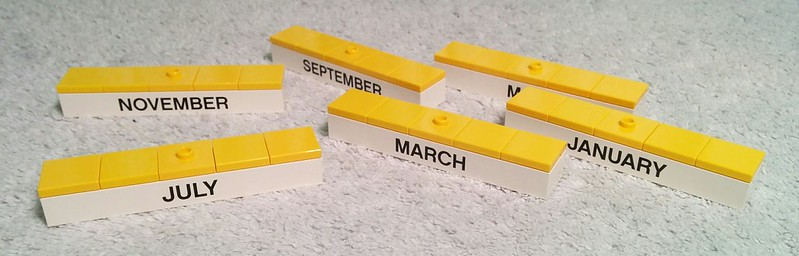 Improved LEGO Calendar Months