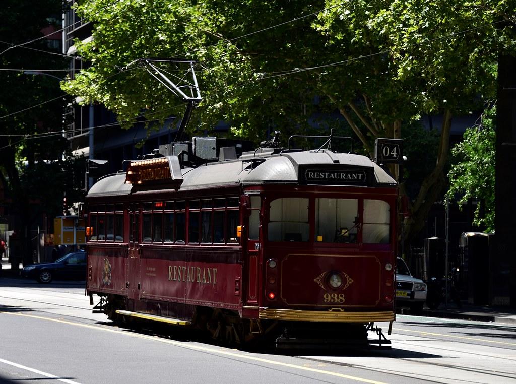 melbourne trams restaurant tram no 938 in collins. Black Bedroom Furniture Sets. Home Design Ideas