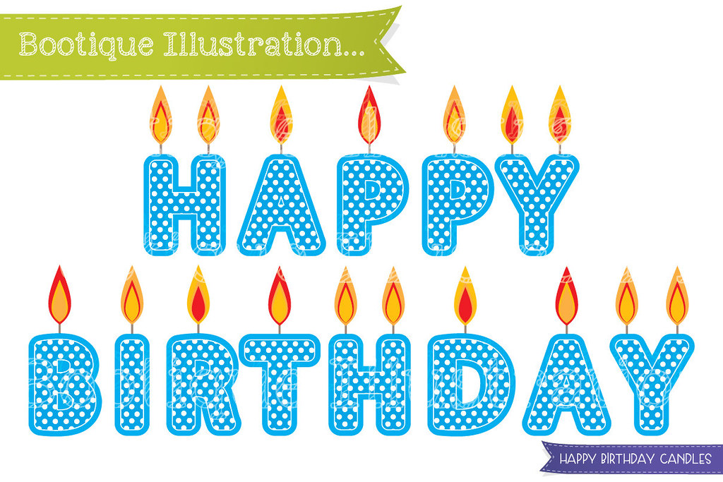 Happy Birthday Candles Clipart Blue Clip Art