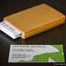 Bamboo and plywood business card case with cards