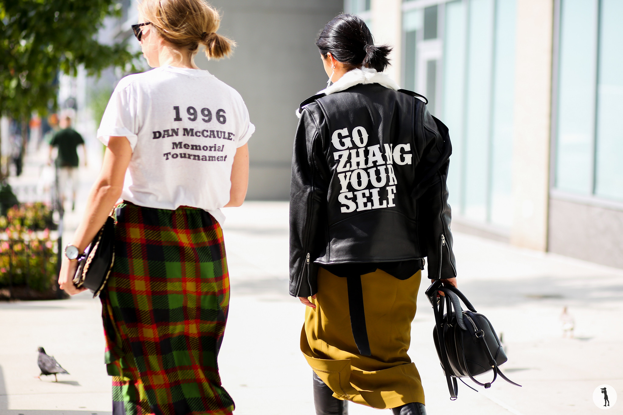 Chloe King and Margaret Zhang at New York Fashion Week