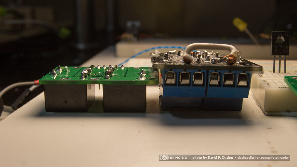 Songle and dpd relay boards side by side