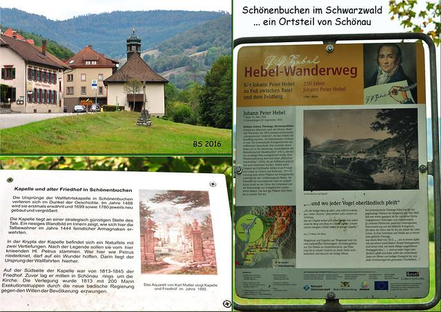 Kleine Schwarzwald-Tour, Oktober 2016 ... Schönenbuchen ... Hebel-Wanderweg ... Wallfahrtskapelle St. Peters-Kapelle ... Fotos: Brigitte Stolle