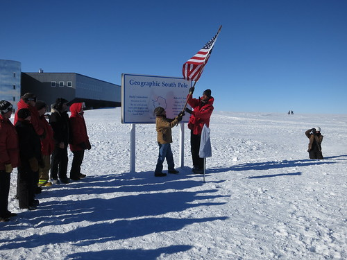 Unveiling of the new South Pole Marker | by U.S. Ice Drilling