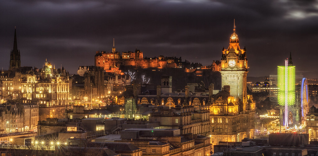 Edinburgh Castle and city