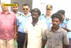 Three fishermen who went astray due to rough seas return home