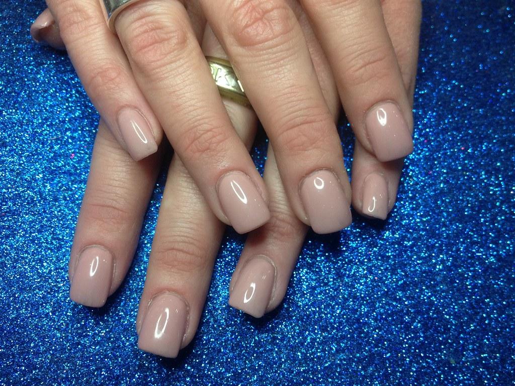 Acrylic nails with nude gel polish | Nic Senior | Flickr