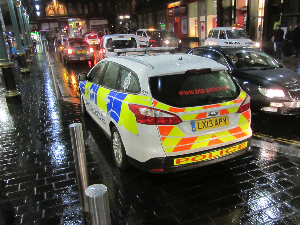 Police Scotland Ford Focus Edge   Tdci British Transport Police Spotted In Glasgow Scotland