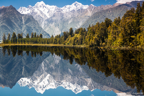 Aoraki Mirrored on Lake Matheson