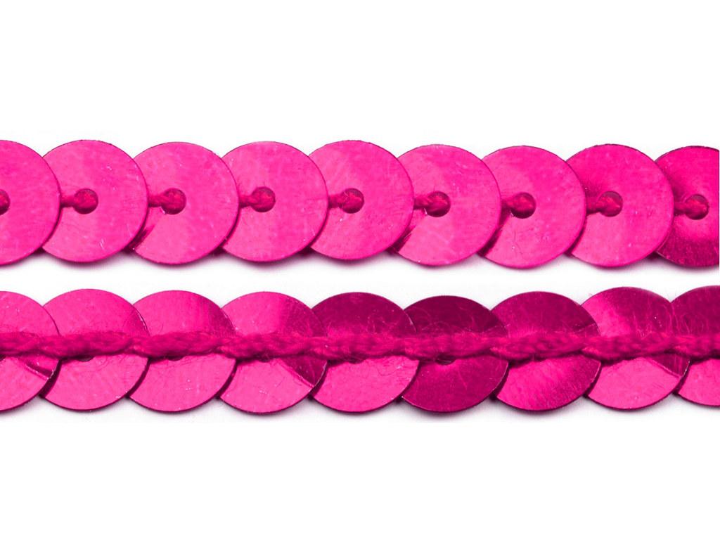 Paillettenborte 6mm, lila-pink