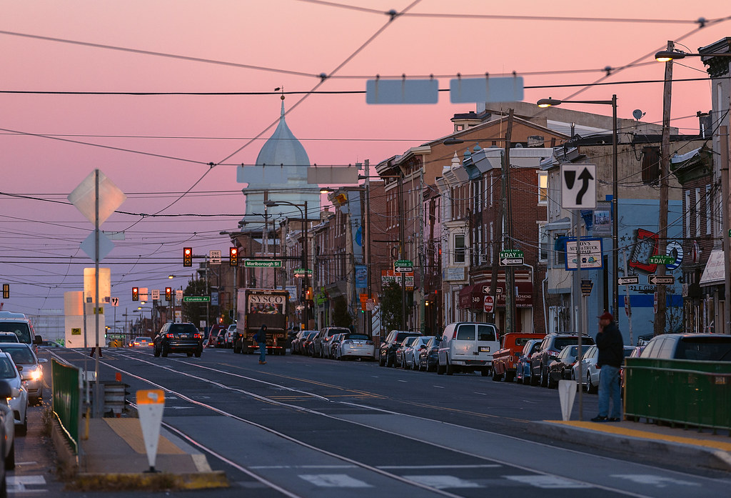 Fishtown philadelphia looking east on girard ave in for Fish town usa