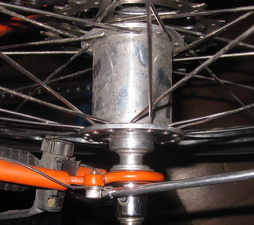 Kitbashed NDS axle end for White TI hub