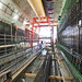 Wall construction changes the landscape inside the SR 99 tunnel