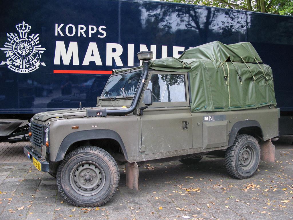 Landrover Defender 110xd Ww Korps Mariniers Parkkade Flickr