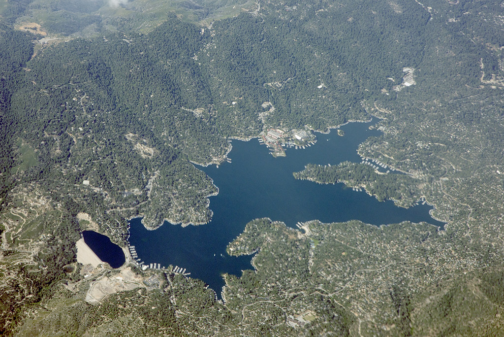 Aerial view of Lake Arrowhead, San Bernardino County, California