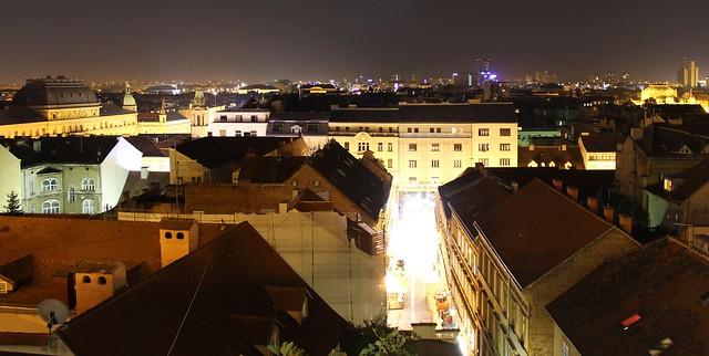 Zagreb bei Nacht