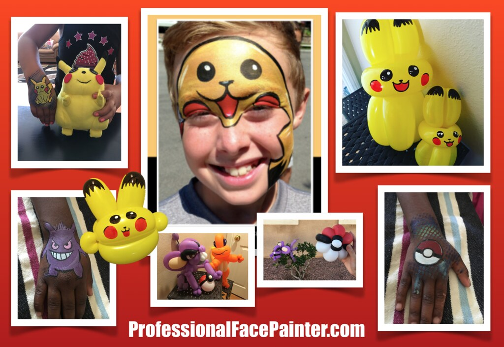 Face Painting Balloon Twisting Pokemon Go We Are Trying Flickr