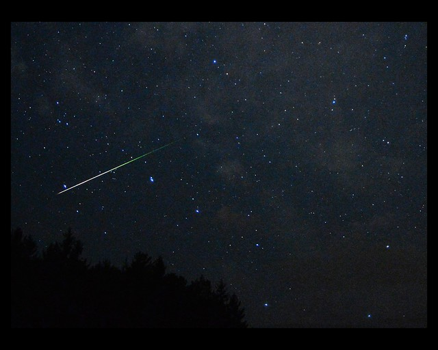 Perseids meteor against the Big Dipper