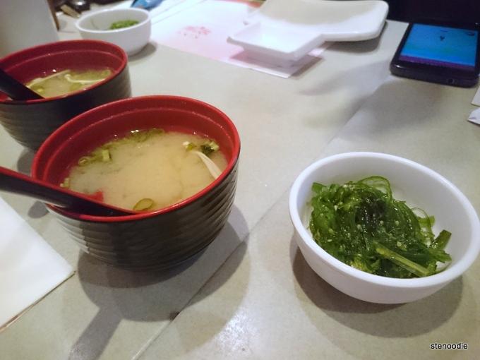 Miso Soup & Seaweed Salad