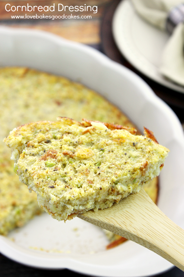 This Cornbread Dressing is perfect for the holidays or Sunday dinner! Easy and delicious! #ad