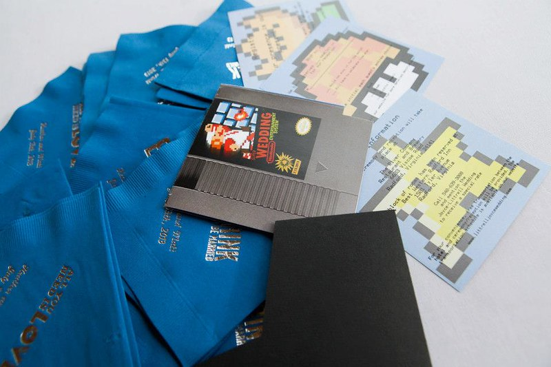 Nintendo wedding details from @offbeatbride