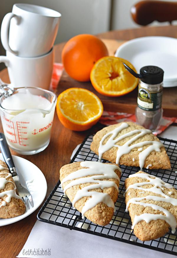 Cardamom Orange Scones - bethcakes.com