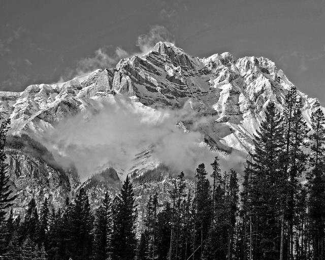 Snow Capped B&W