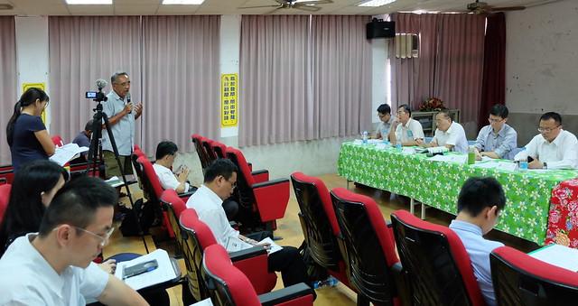 環保署說明彰化大城台西村居民體內重金屬汙染來源調查規劃。攝影:陳文姿
