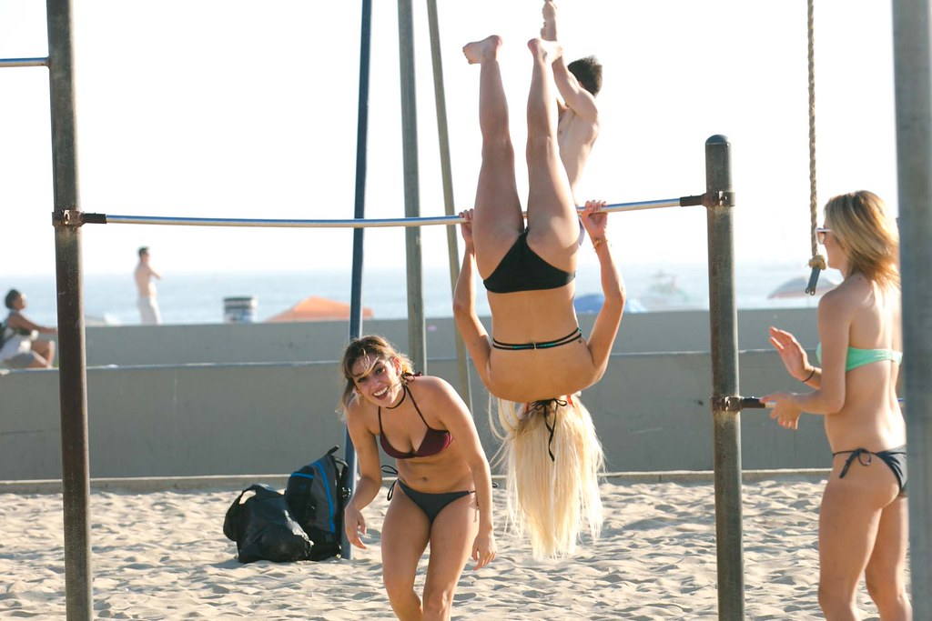 At Muscle Beach
