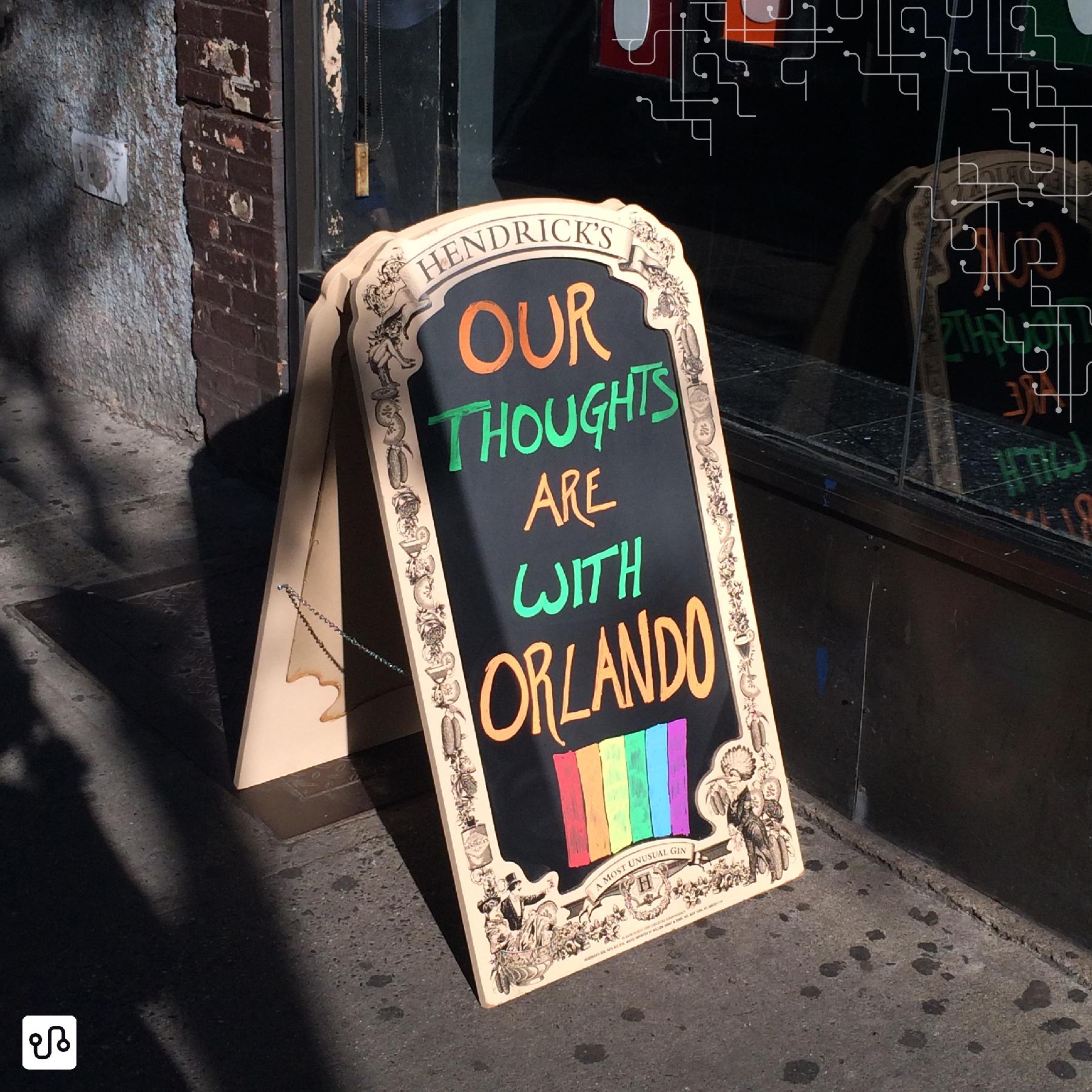 Nossos pensamentos estão com Orlando