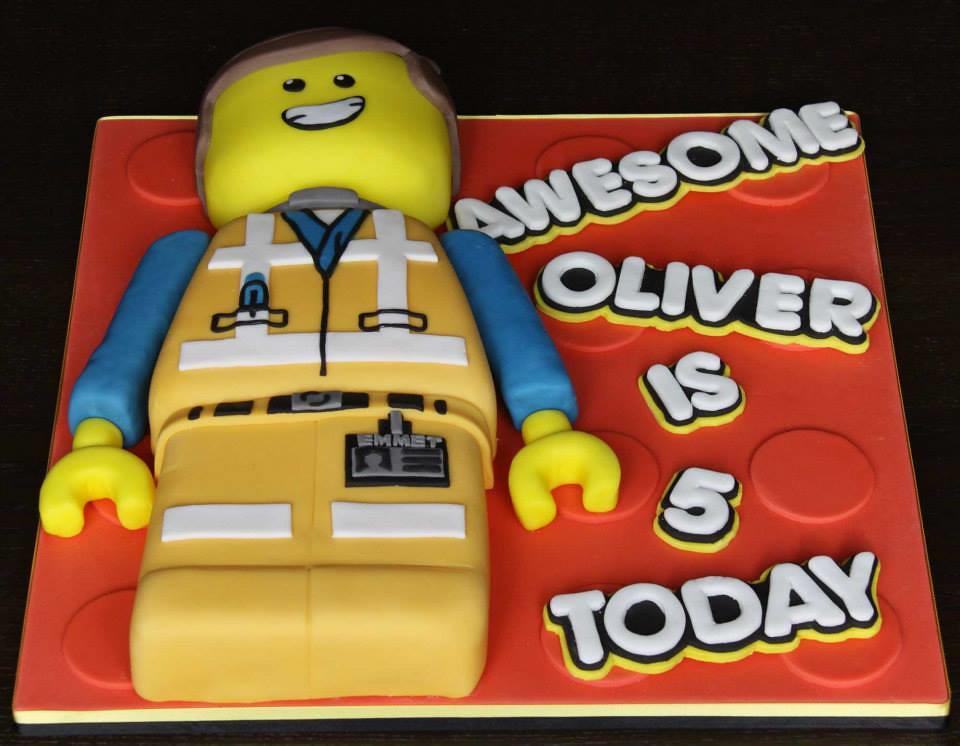 Emmet Lego Movie Birthday Cake