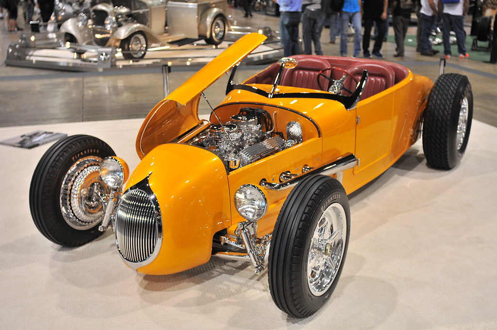 1927 Ford Model T Track Roadster Yellow Grand National