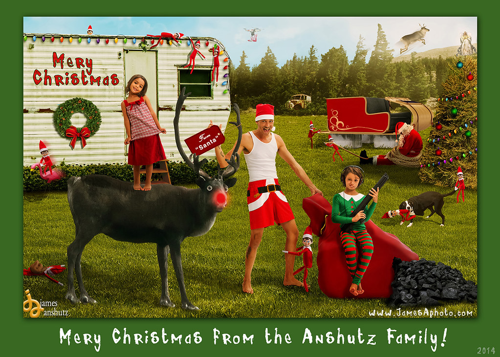 2014 redneck christmas card by james anshutz by modified images by james anshutz - Redneck Christmas