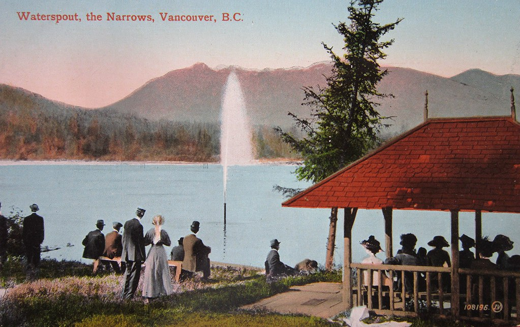 Postcard First Narrows Waterspout C 1910 Quot Waterspout