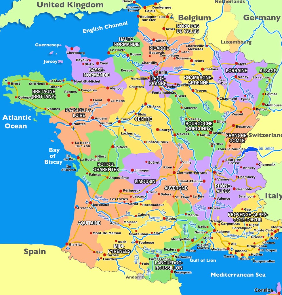 Map of France Undated The political regions of France are Flickr