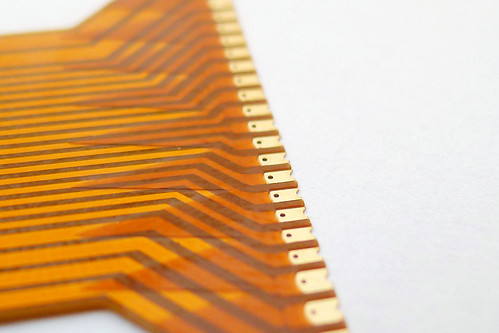 Closeup of flexible PCB connection | by oliverst