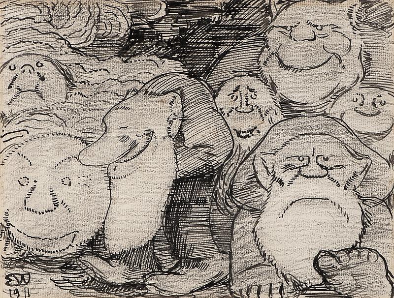 Erik Theodor Werenskiold - Troll, 1911
