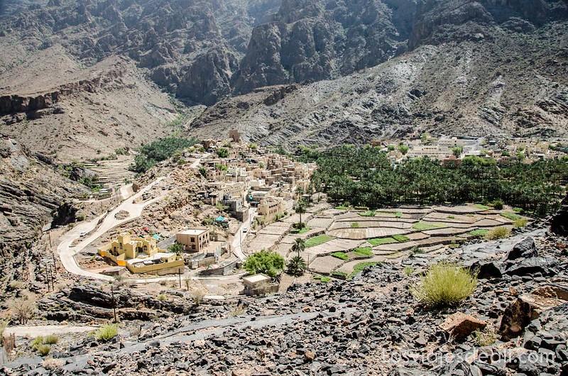 Balad Sayt pueblo de la cordillera Al Hajar