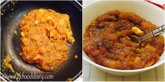 Yellow Pumpkin Halwa Recipe for Babies, Toddlers and Kids - step 6