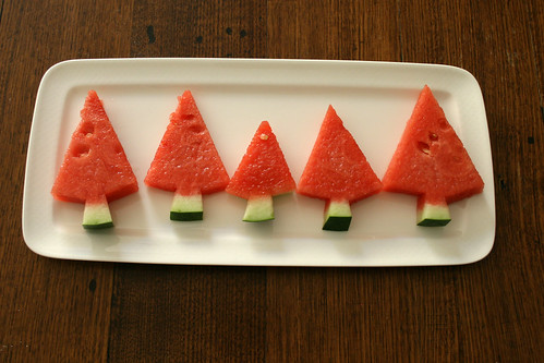 watermelon christmas trees | by suzy @ floating world