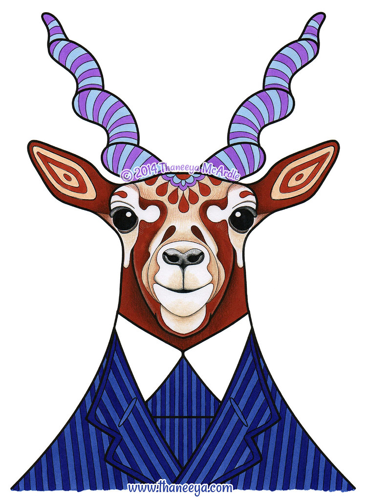 Hipster Antelope Art By Thaneeya McArdle