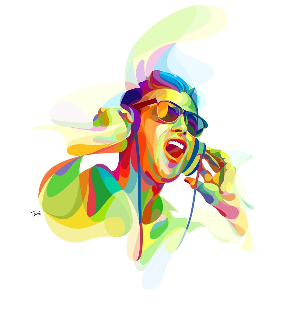 Arts Music Photography: A Colorful Neo-futuristic Experimental