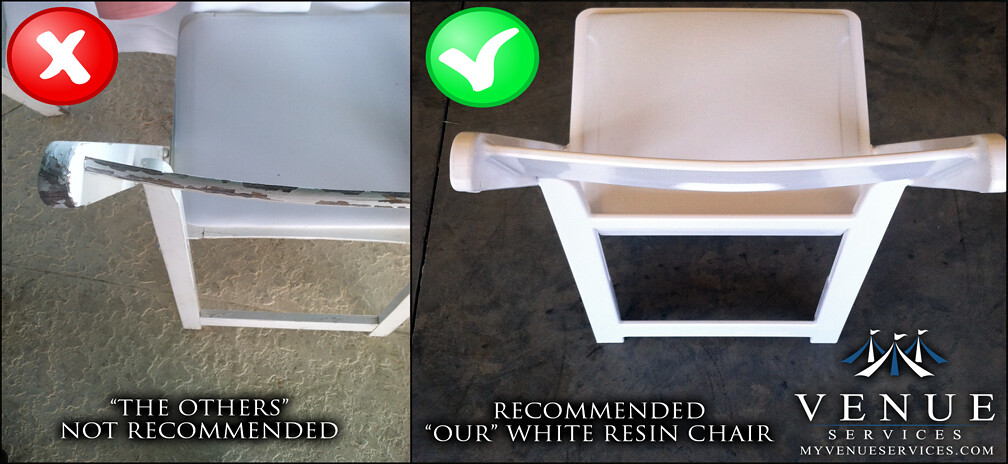 White Wedding Chair Comparison Venue Services Event Rental