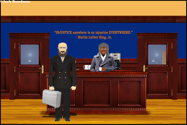 Andrew Jackson Hammar entered the law office ©Jack Boardman