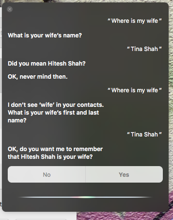 Siri arranges a marriage for me