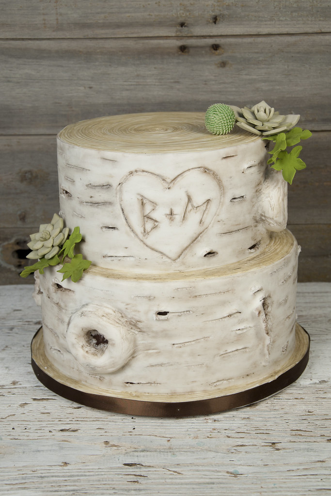 white birch wedding cake w9280 rustic birch bark succulent wedding cake toronto 27231